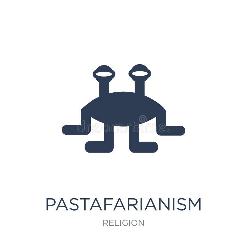 Pastafarianism象 在w的时髦平的传染媒介Pastafarianism象 库存例证