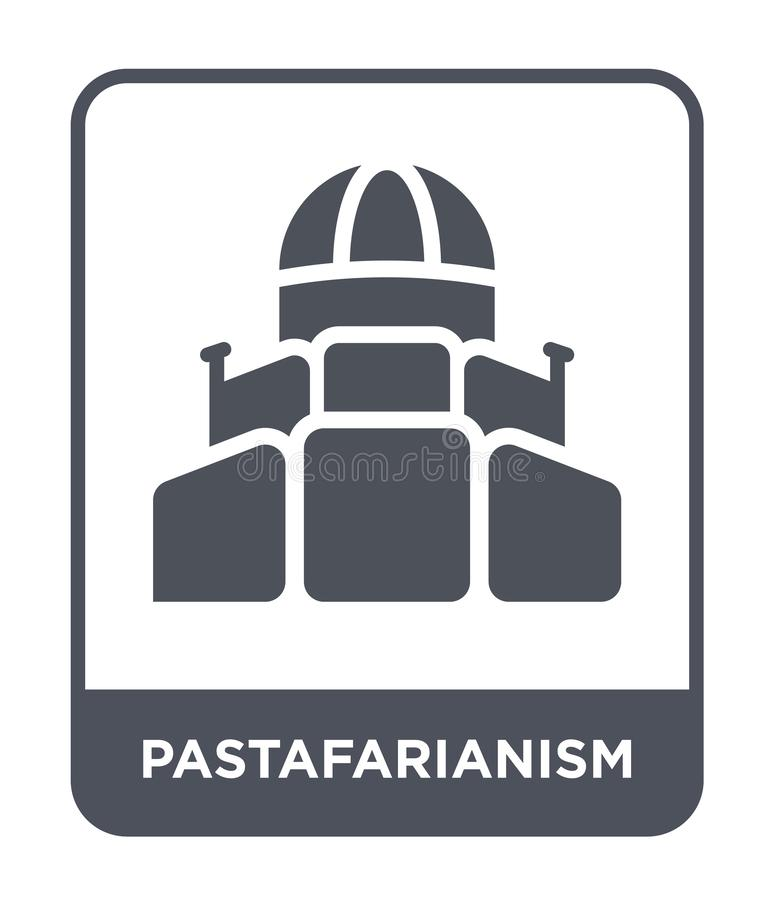 Pastafarianism icon in trendy design style. pastafarianism icon isolated on white background. pastafarianism vector icon simple. And modern flat symbol for web stock illustration