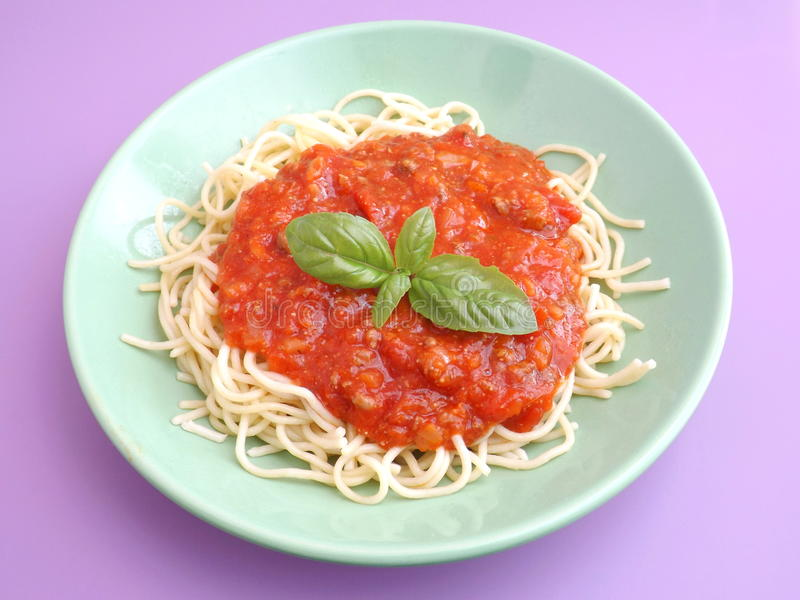Download Pastas boloñés foto de archivo. Imagen de espagueti, tomates - 42425270