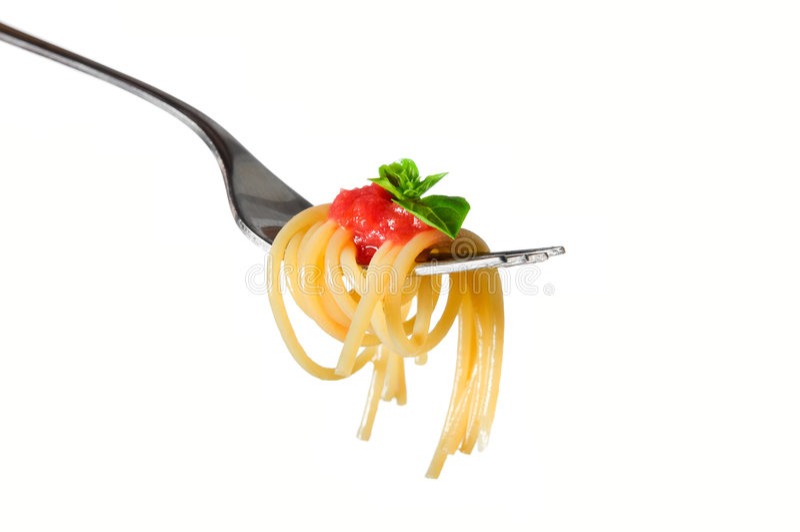 Pastas del espagueti aisladas foto de archivo libre de regalías