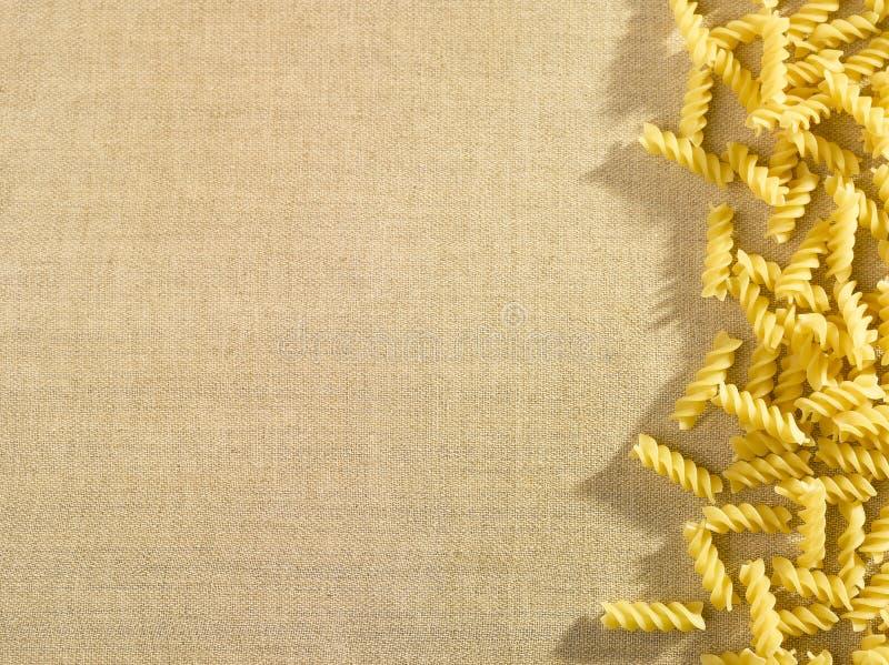 Pastas en fondo imagen de archivo libre de regalías