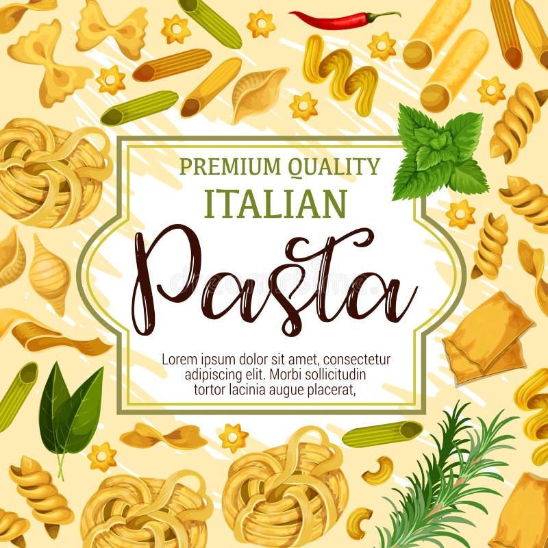 Pastas, especias e hierbas italianas libre illustration