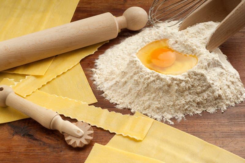 Pastas hechas en casa foto de archivo