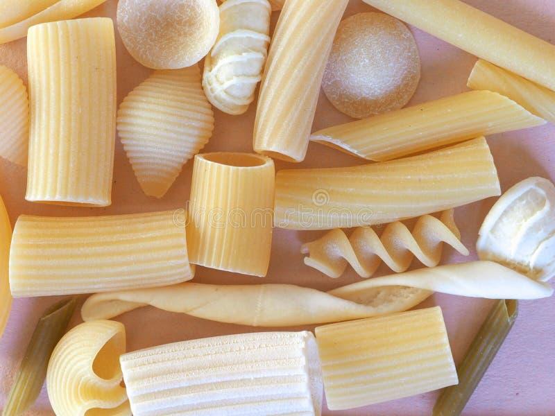 Pastas italianas tradicionales imagen de archivo libre de regalías