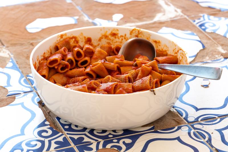 Pastas italianas tradicionales imagen de archivo