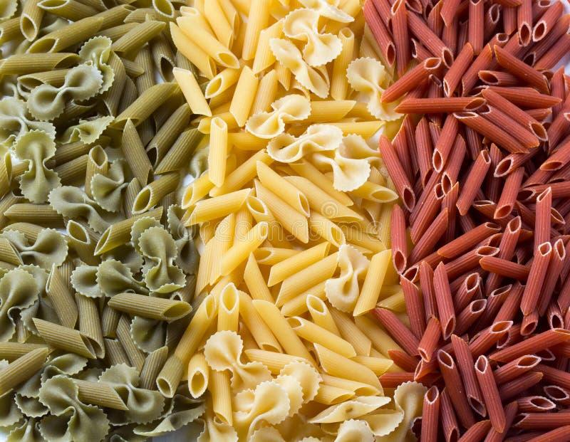 Pastas La bandera de Italia creó de los macarrones fotos de archivo libres de regalías