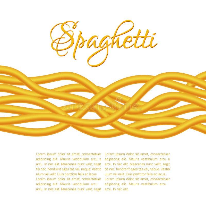 Pastas torcidas realistas de los espaguetis ilustración del vector