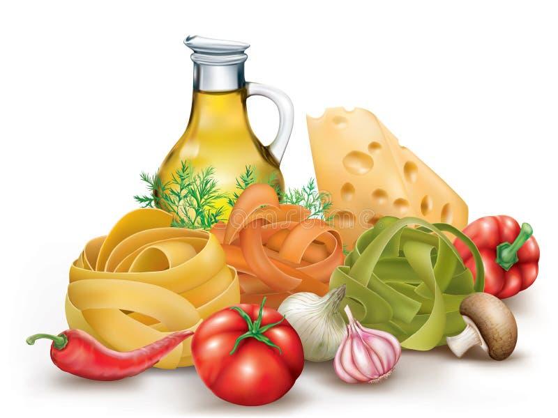 Pastas y verduras italianas libre illustration