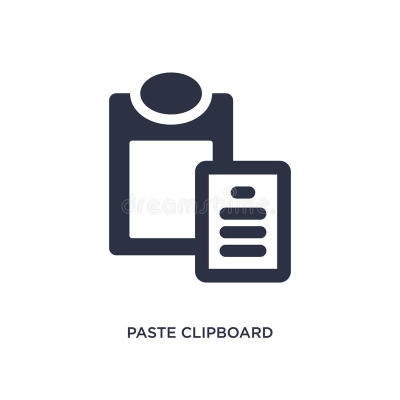 paste clipboard icon on white background. Simple element illustration from geometry concept royalty free illustration