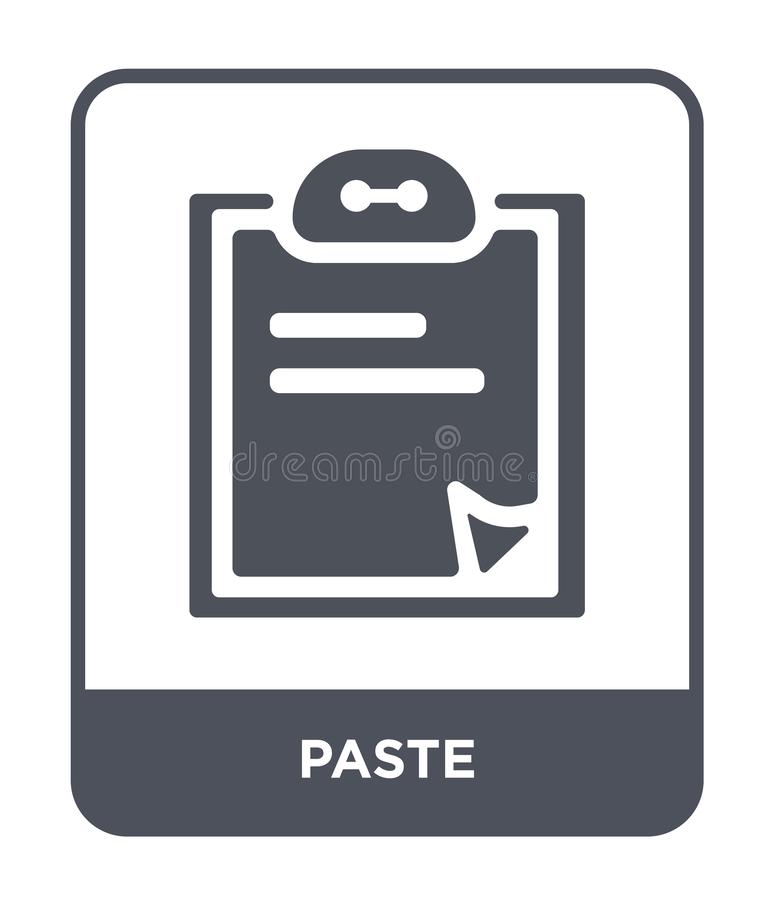 paste icon in trendy design style. paste icon isolated on white background. paste vector icon simple and modern flat symbol for stock illustration