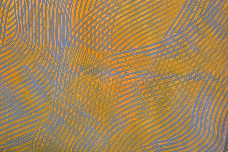 Paste-Papier: Orange und blaue Zeilen stockbild