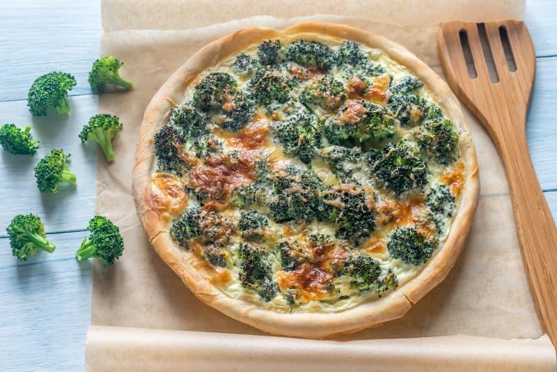 Pastei met broccoli en kaas royalty-vrije stock afbeeldingen