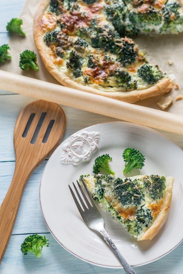 Pastei met broccoli en kaas royalty-vrije stock fotografie