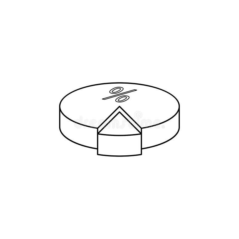 pastei met rentepictogram Elementen van verkiezingenpictogram Het grafische ontwerp van de premiekwaliteit Tekens en het pictogra royalty-vrije illustratie