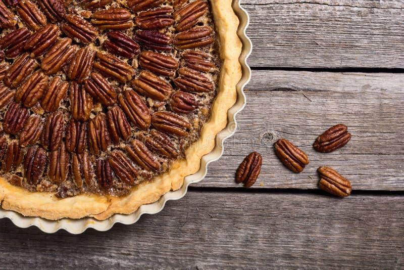 Pastei van de de herfst de Amerikaanse pecannoot royalty-vrije stock foto's