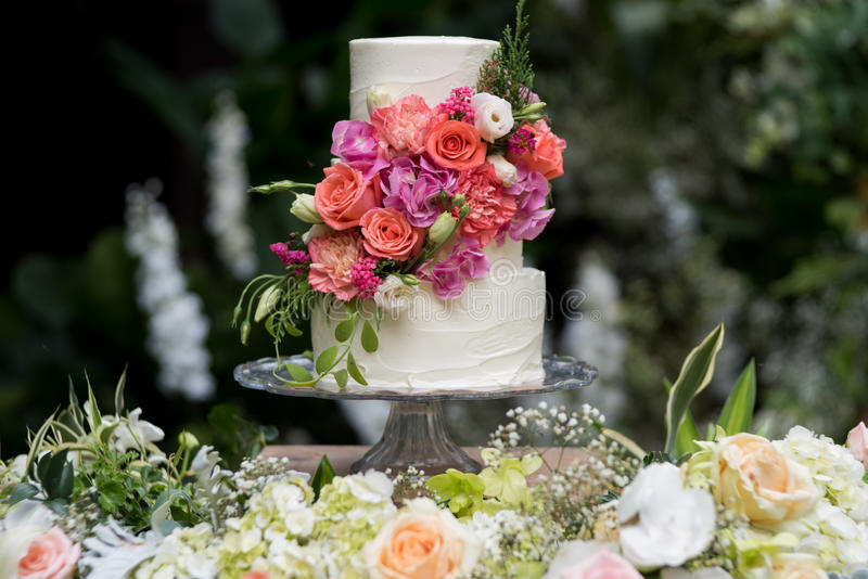 Pastei 8 van het huwelijk stock fotografie
