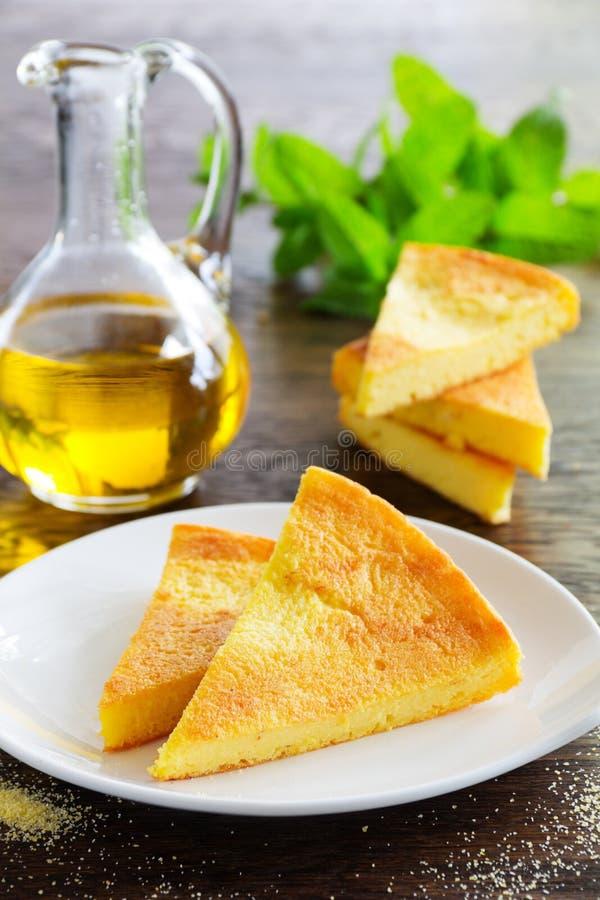 Pastei van polenta stock afbeelding