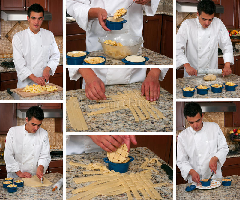Pasteicollage stock foto