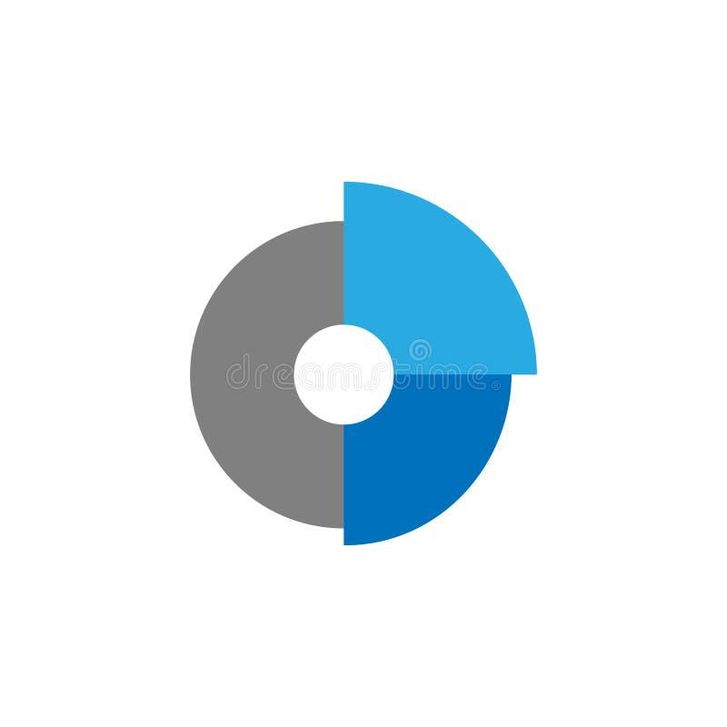 Pasteikaart en analyticspictogram Element van gebruikersinterfacepictogram voor mobiele concept en webtoepassingen Gedetailleerd  royalty-vrije illustratie