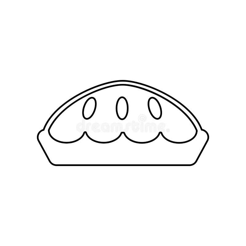 Pasteipictogram Element van het eten voor mobiel concept en webtoepassingenpictogram Overzicht, dun lijnpictogram voor websiteont stock illustratie
