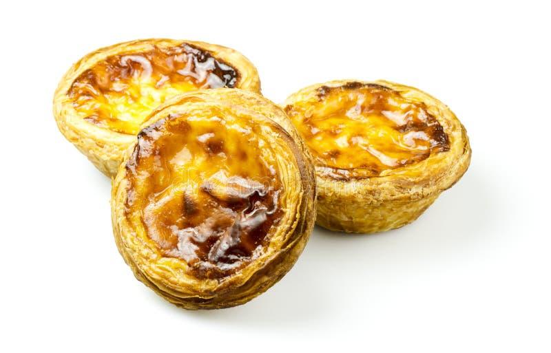 Pasteis de娜塔或葡萄牙乳蛋糕妓女 库存照片