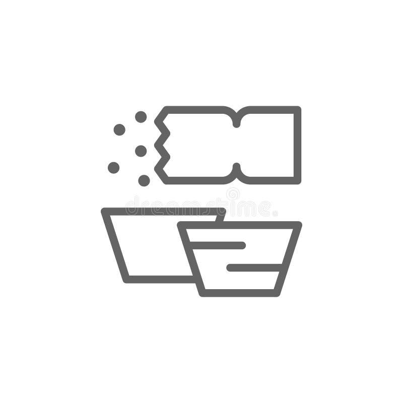 pasteis de Belem ikona Element Portugalia ikona Cienka kreskowa ikona dla strona internetowa projekta i rozwoju, app rozw?j ikony ilustracja wektor