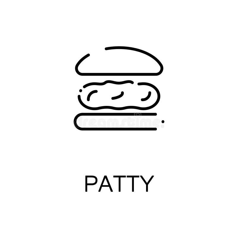 Pasteitje vlak pictogram of embleem voor Webontwerp royalty-vrije illustratie