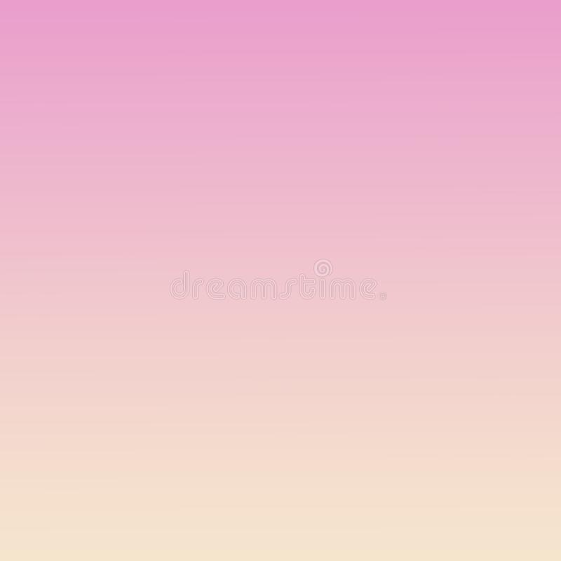 Pastel Gradient Ombre Millennial Pink Peach Background Abstract spring soft blurry template. Pastel abstract gradient background. Orchid color. Defocused royalty free illustration