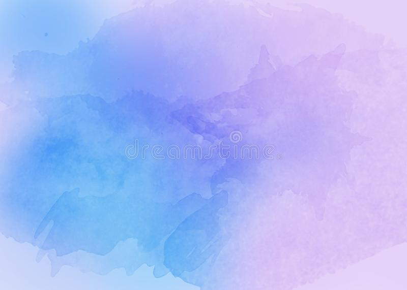Pastel abstract watercolor paint spray backdrop - hand drawn background royalty free stock photo