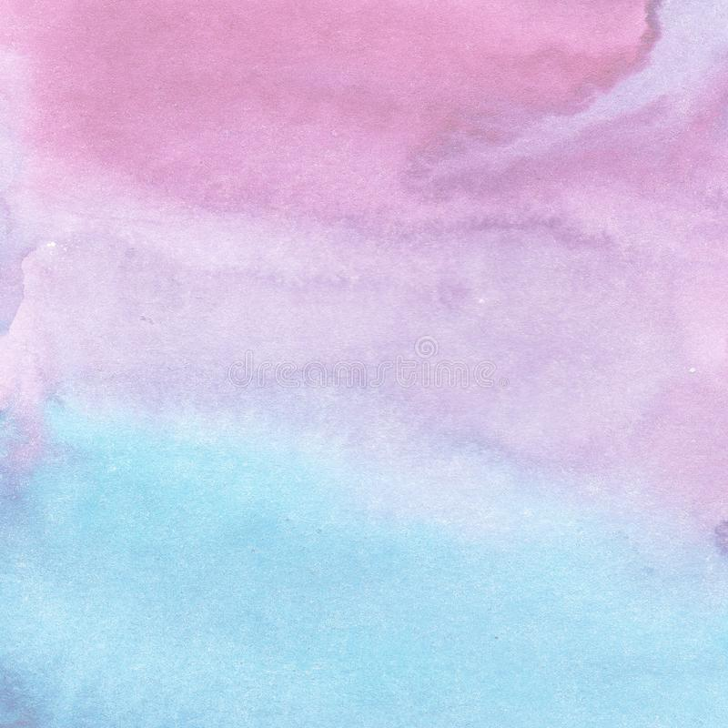 Pastel abstraction watercolor background purple and blue color with divorce gradient vector illustration