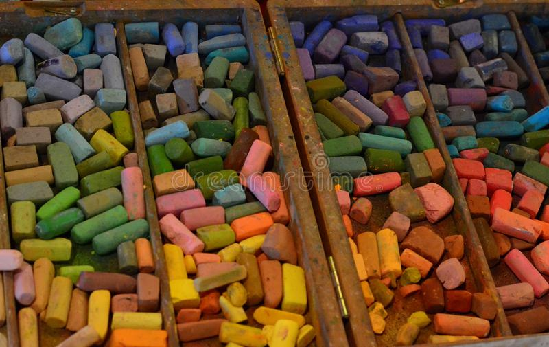 Palette Of Dry Pastel Color Sh Stock Image - Image of ...