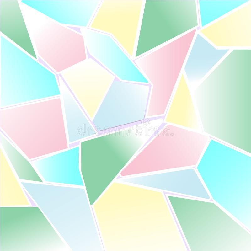 Abstract Pastel colorful polygon and mosaic background vector illustration