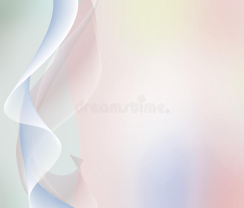 Pastel background with abstract waves and lihgts royalty free illustration