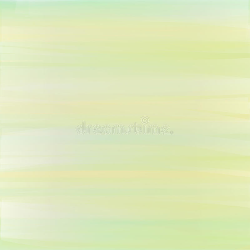Pastel background with brushstrokes in light yellow, green and blue colors. stock illustration