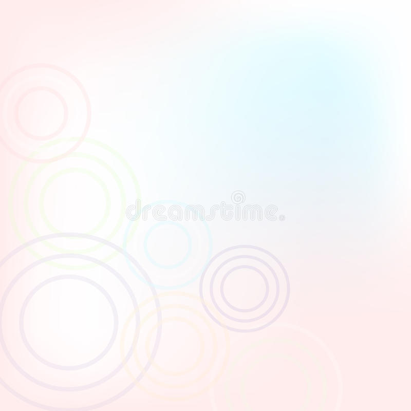 Pastel Background With Circles. Vector Illustration stock illustration