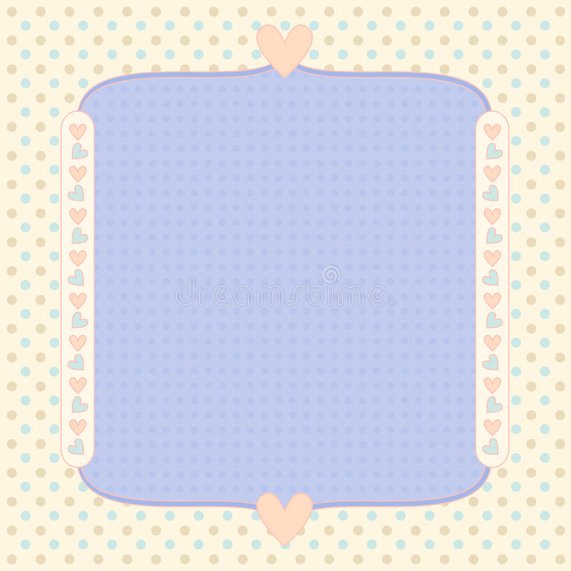 Download Pastel Background With Dots And Hearts Stock Illustration - Illustration of wallpaper, love: 20498814