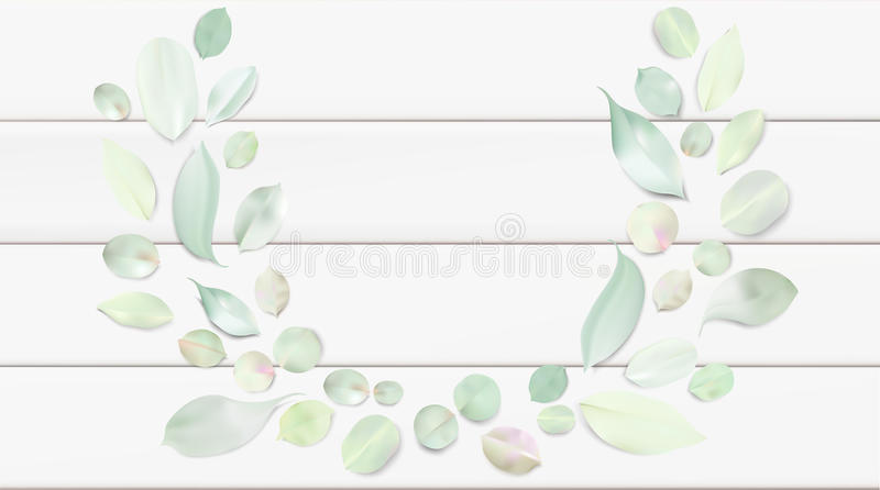 Pastel background with flower leaves. vector illustration