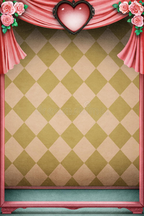 Pastel background with heart royalty free illustration