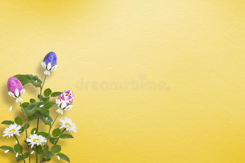 Download Pastel Background With Multicolored Eggs Stock Illustration - Image: 23192320