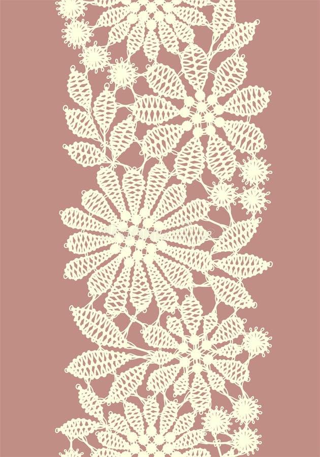 Pastel Barwiąca koronka Pionowo bezszwowy wzór ilustracja wektor
