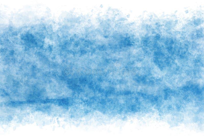 Pastel barwił niebieskie niebo abstrakt na rocznik akwareli farby tle ilustracja wektor