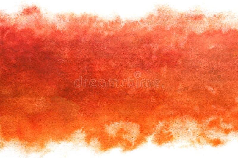 Pastel barwił wschodu słońca nieba abstrakt na rocznik akwareli farby czerwonym tle royalty ilustracja