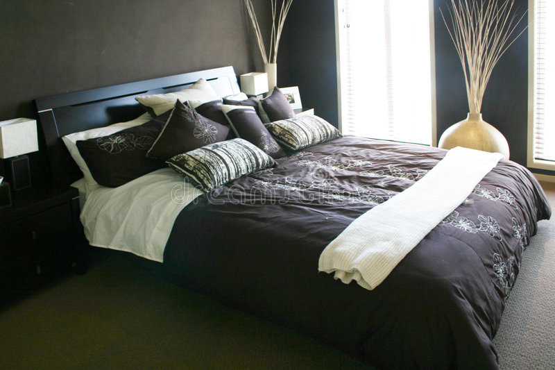 Pastel bedroom stock image