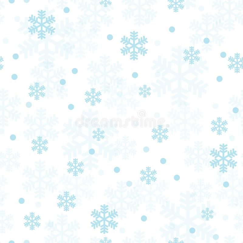 Pastel blue Christmas snowflakes seamless pattern vector illustration