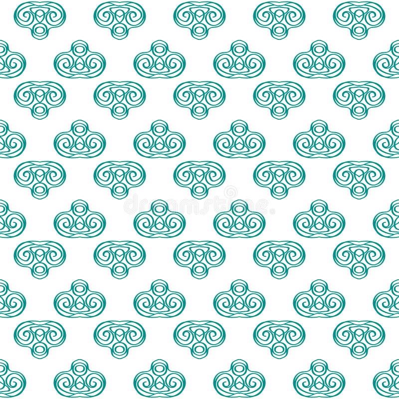 Pastel blue fabric ikat diamond seamless pattern background vector illustration