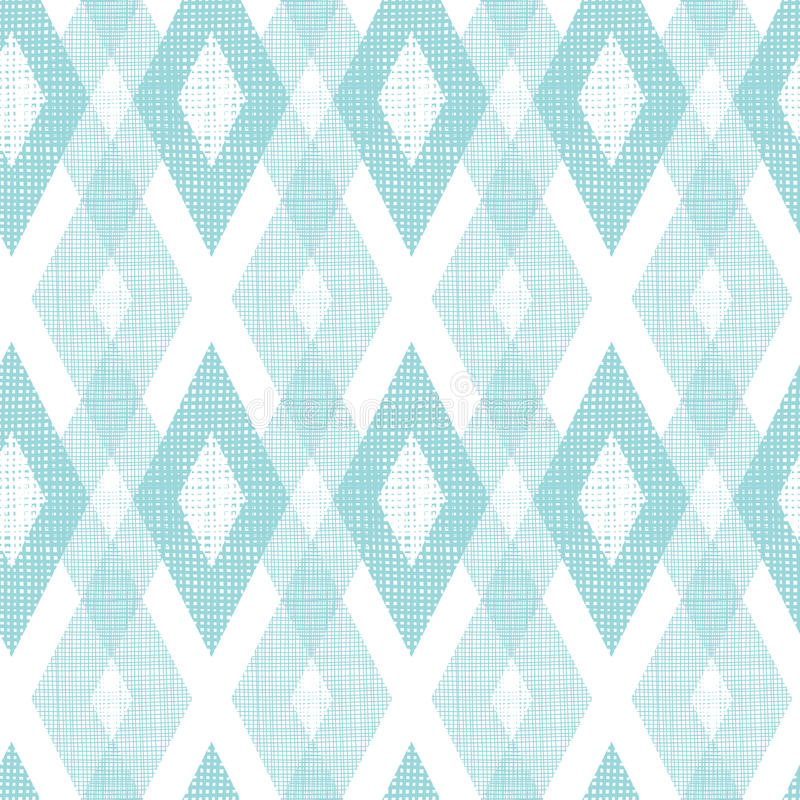 Pastel blue fabric ikat diamond seamless pattern royalty free illustration