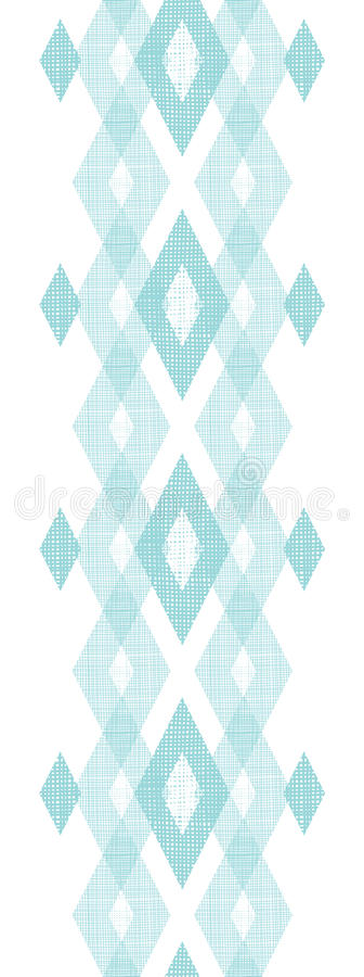 Pastel blue fabric ikat diamond vertical seamless stock illustration