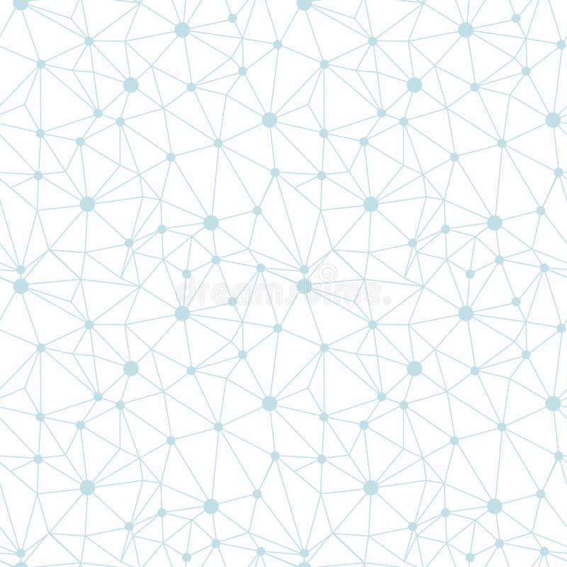 Pastel blue network web texture seamless pattern. royalty free illustration