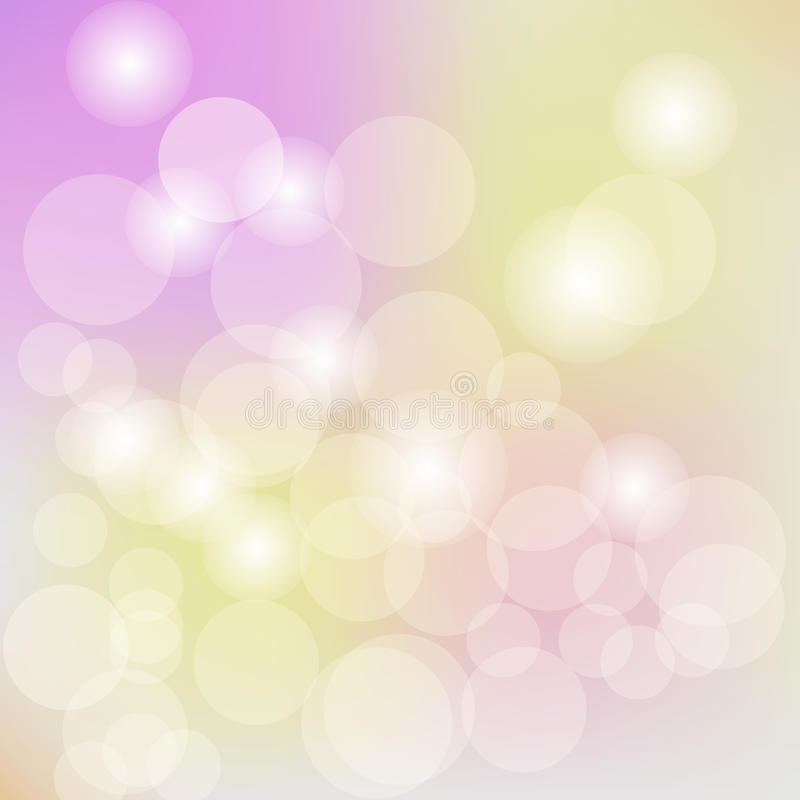 Pastel bokeh light background, abstract blurred background. Vector illustration eps 10 royalty free illustration