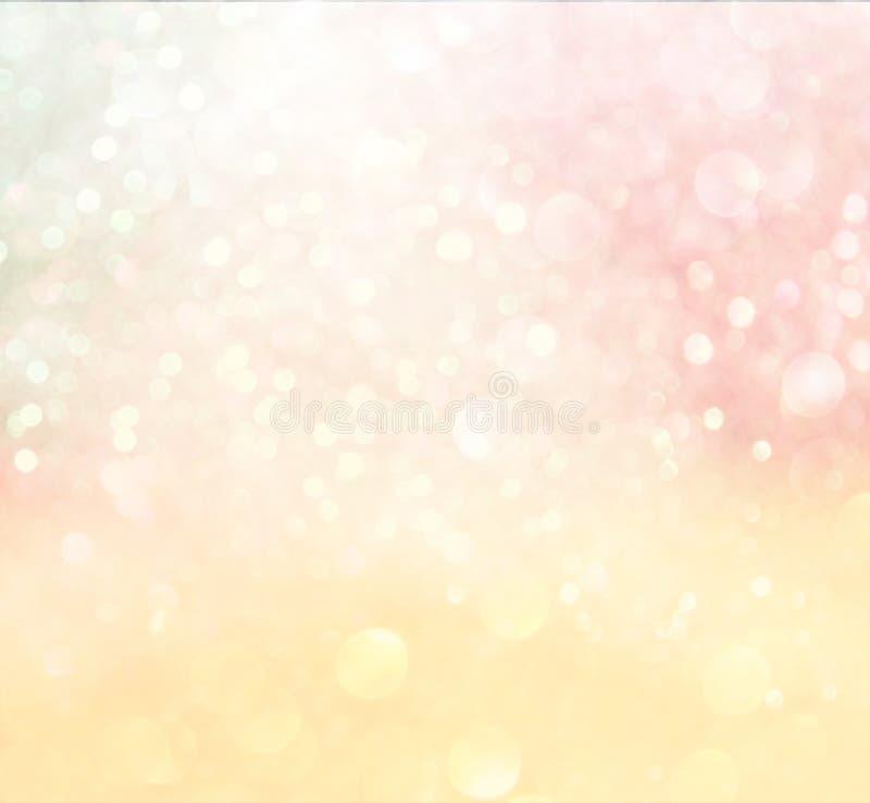 Pastel bokeh lights. Defocused lights background royalty free stock photos